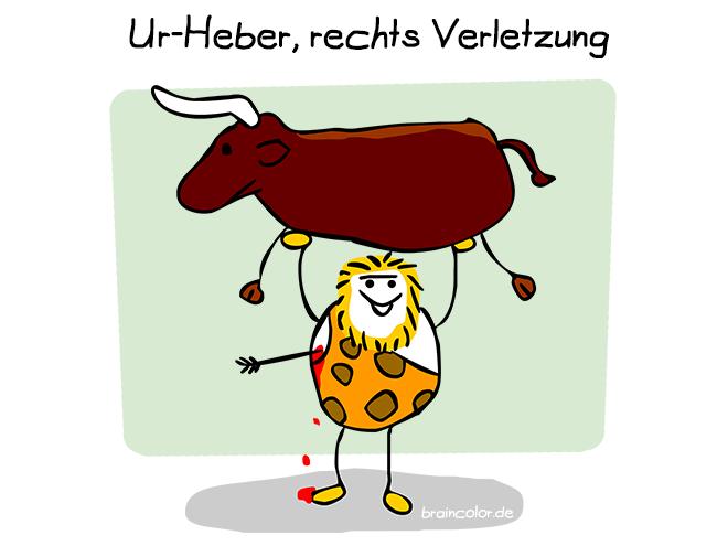 Cartoon: Urheber, rechts Verletzung